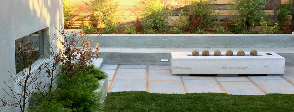 California Modern Permeable Landscape Outside InStyle Landscape Design