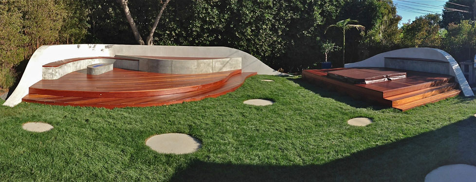 California Santa Barbara Wave Deck Outside InStyle Landscape Design